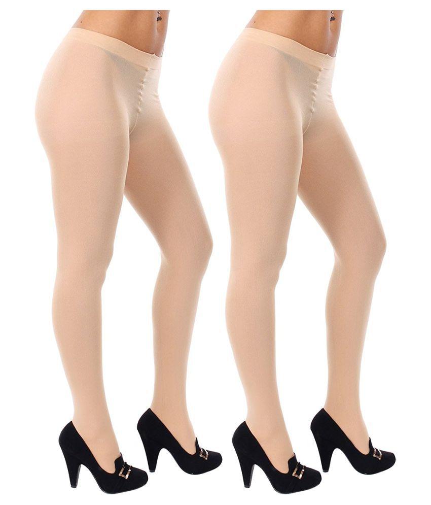 Gold Dust Long Comfort Cream Hose Stocking - Set of 2