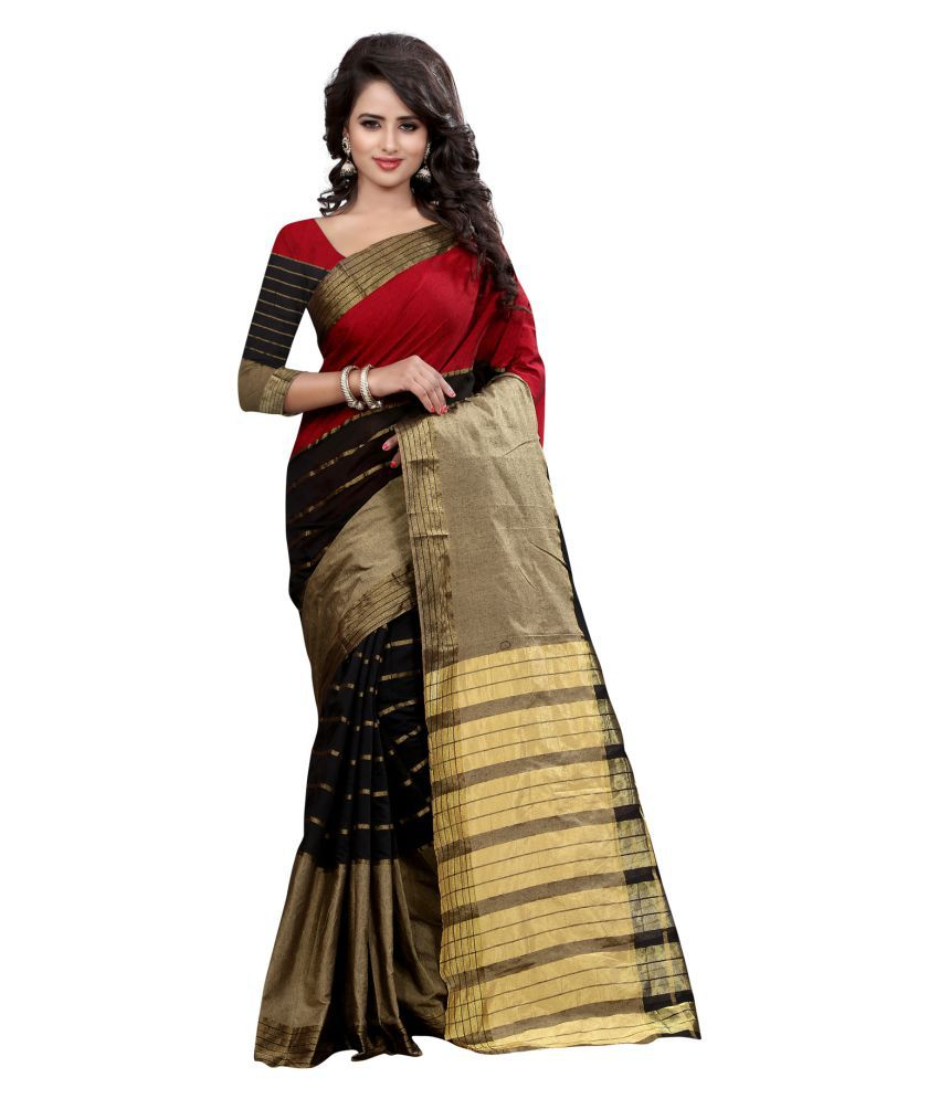 Pioneer Textiles Multicoloured Cotton Saree