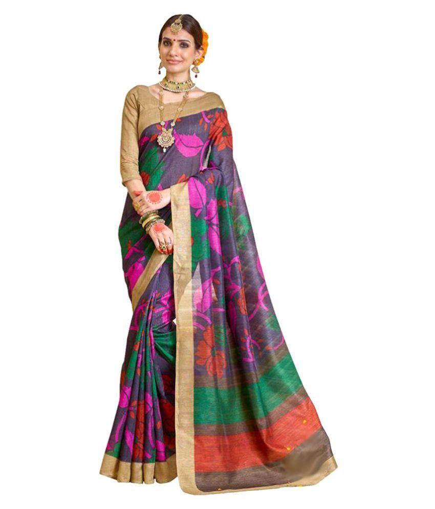 Magneitta Multicoloured Bhagalpuri Silk Saree