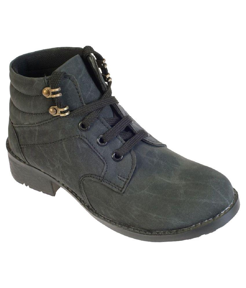 da959df5c Khadim s Black Boots Price in India- Buy Khadim s Black Boots Online at  Snapdeal
