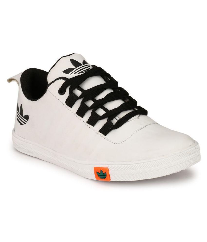 Girls All White Canvas Shoes