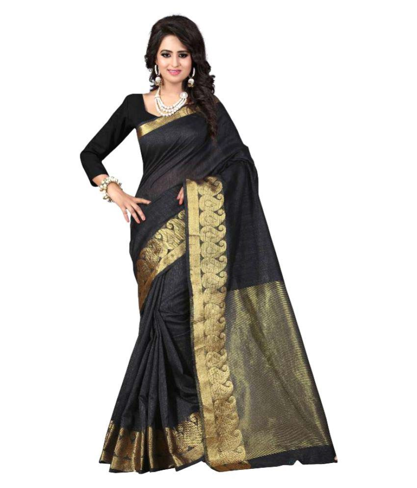 KalashreeFashion Black Silk Saree