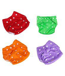 Ole Baby Multi-Colour Free Size Cloth Diapers