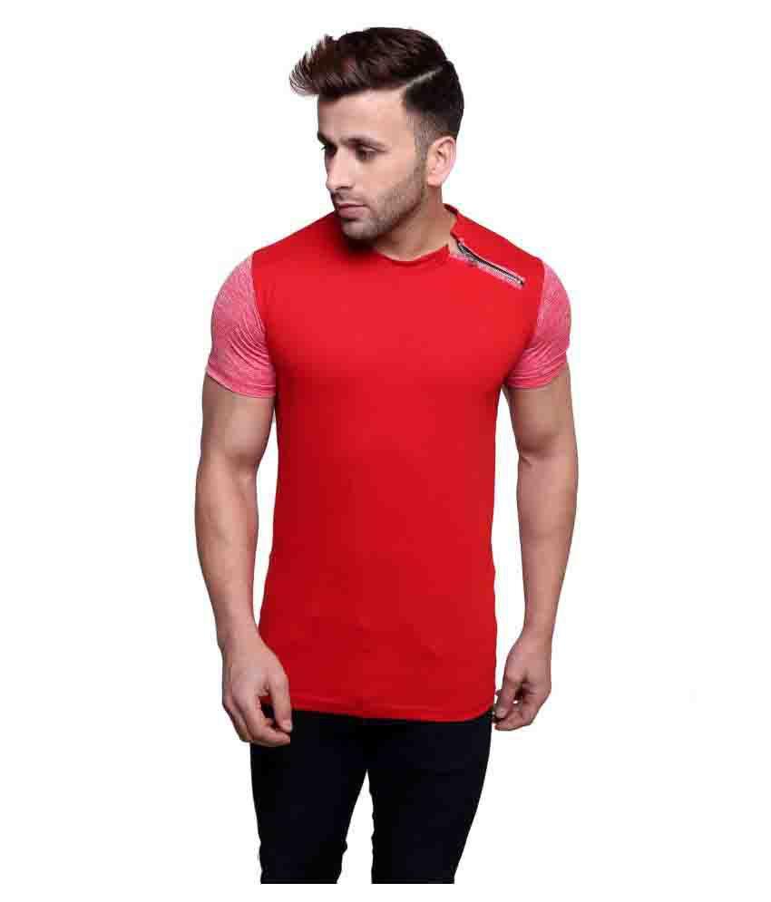 Ess Bee Red Round T-Shirt