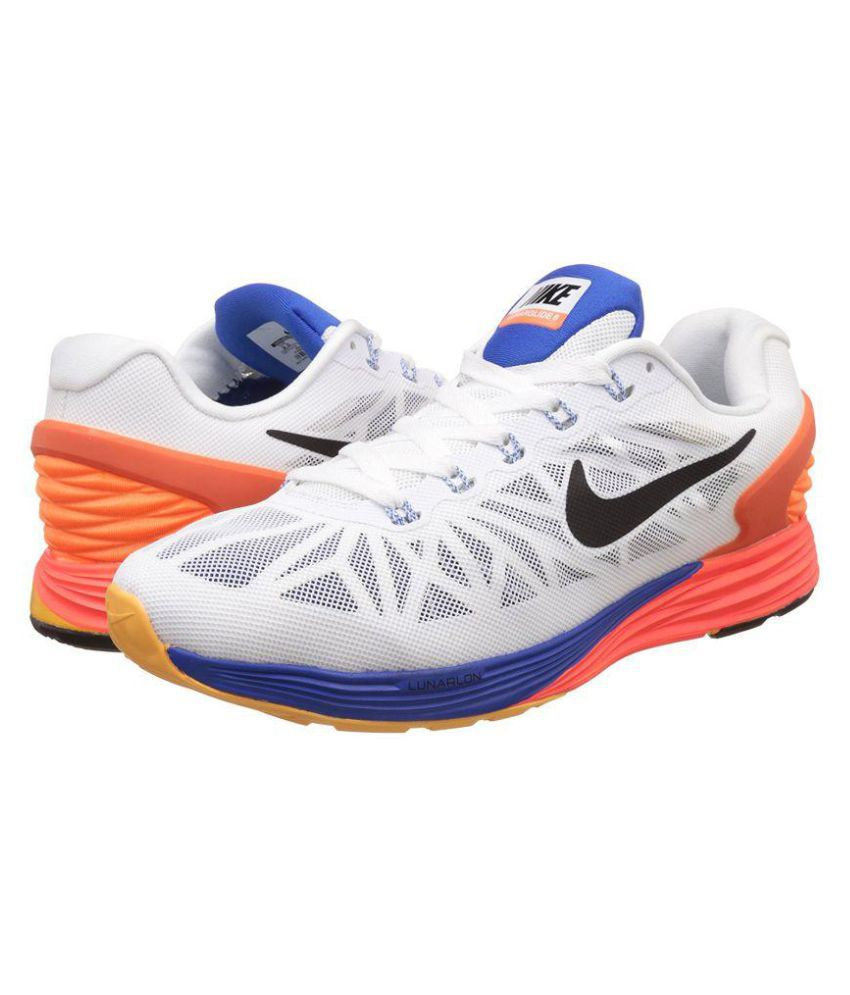 a980c2c830af Nike 6 0 Lunarglide 6 White Running Shoes - Buy Nike 6 0 Lunarglide 6 White  Running Shoes Online at Best Prices in India on Snapdeal