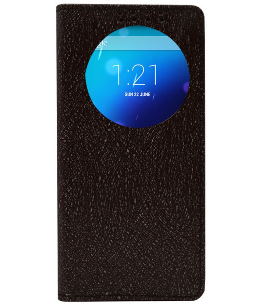 Gionee F103 Flip Cover by Dsas - Brown