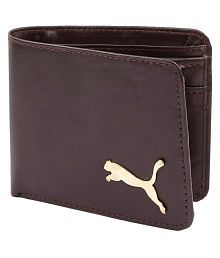 Puma F1 Leather Brown Casual Regular Wallet