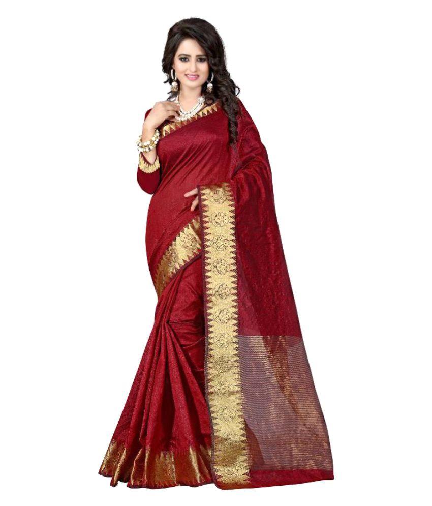 KalashreeFashion Maroon Silk Saree