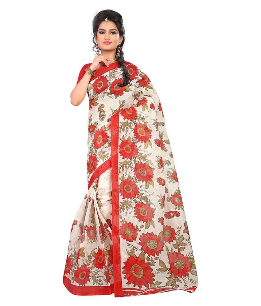 Blossomdeal Multicoloured Cotton Saree