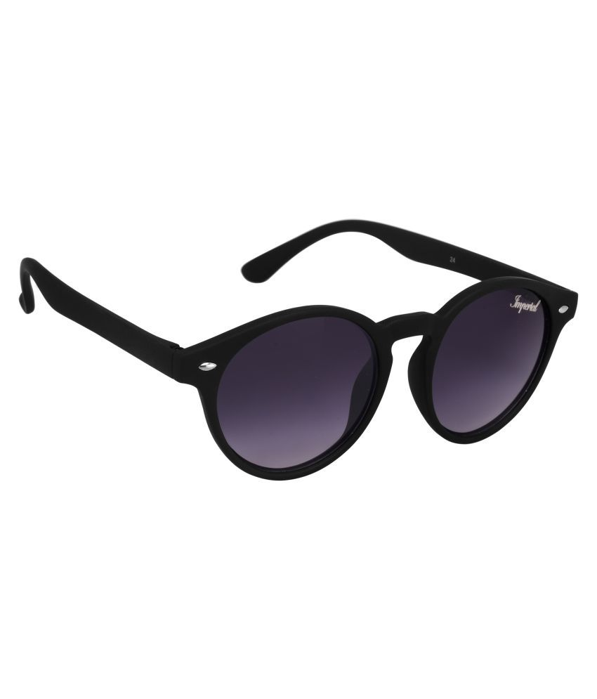 35dff21a7 Imperial Club Black Round Sunglasses ( wy014 ) - Buy Imperial Club ...