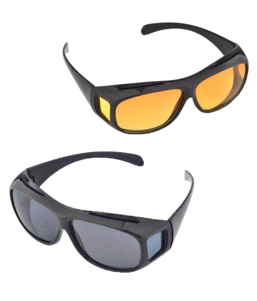 Trioflextech Hd Vision Wrap Around Sunglasses Fits Over Your Prescription  Glasses Set of 2