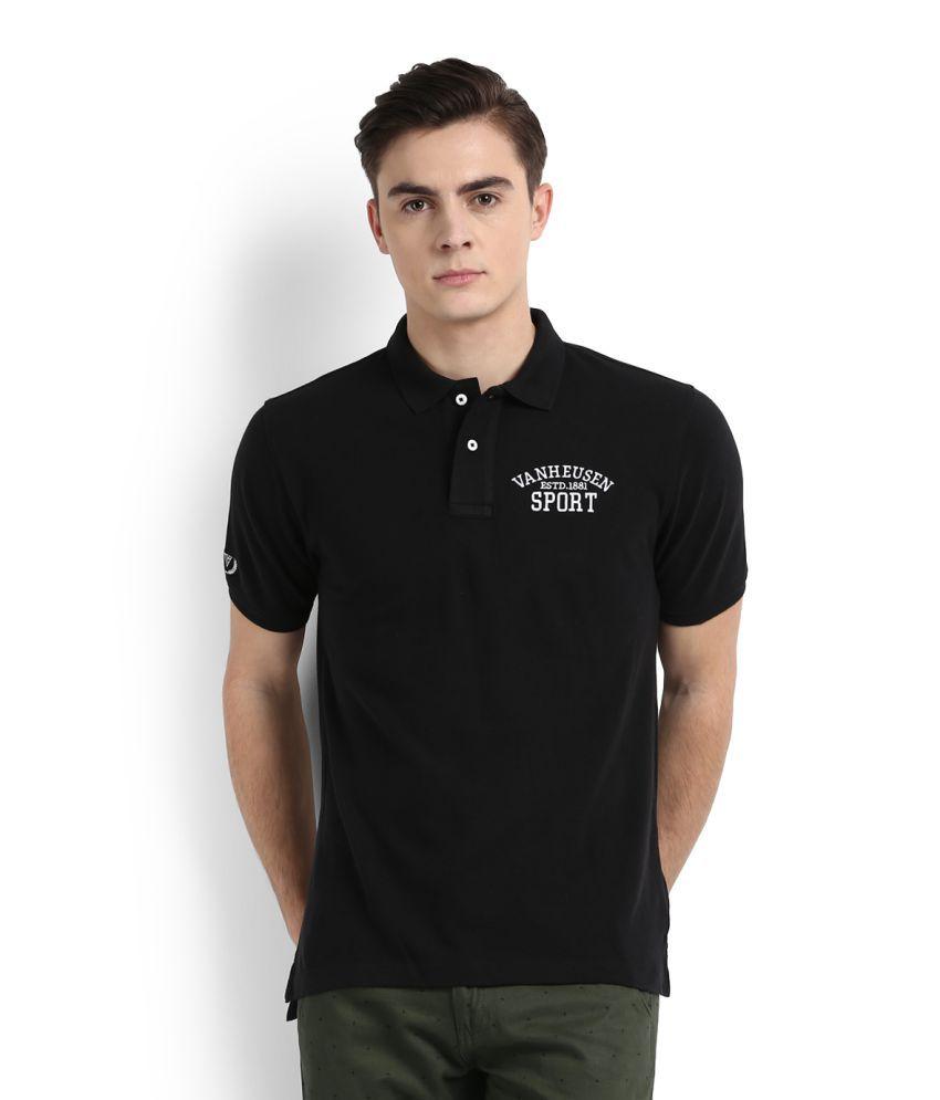 Van Heusen Sport Black Polo T-Shirt