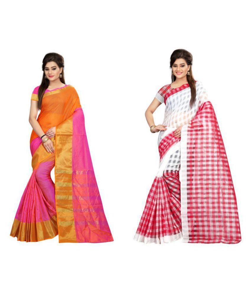 Pari Designer Multicoloured Cotton Saree Combos