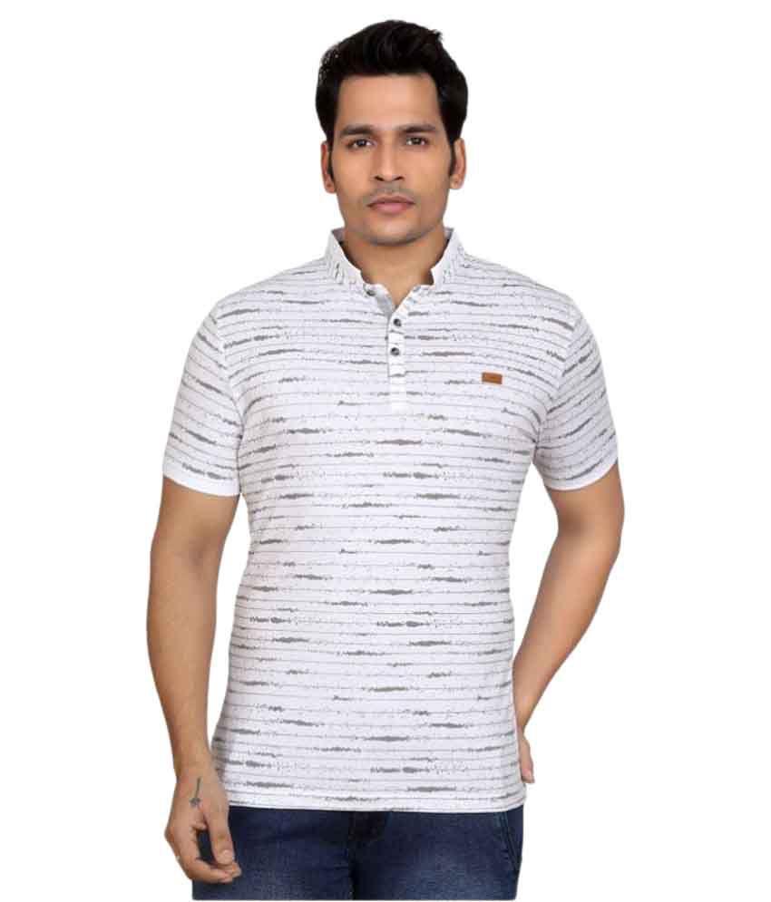 GoPlay White Henley T-Shirt