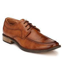Lee Peeter Brown Artificial Leather Formal Shoes