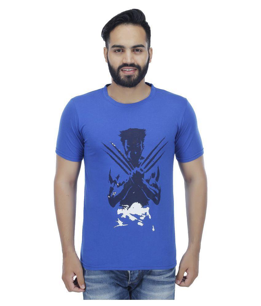 Ess Bee Blue Round T-Shirt