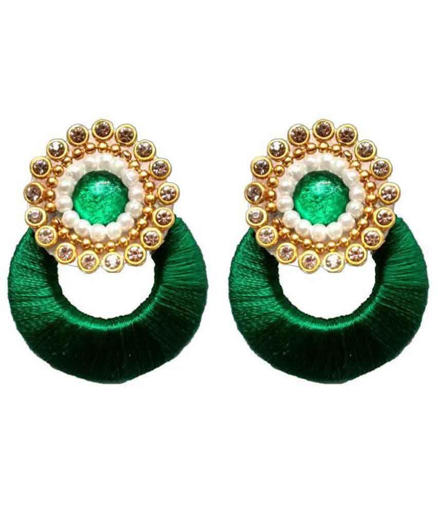 Shrungarika Fashionable Silk Thread Earrings