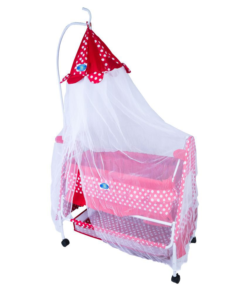 KGC Networks Kids Baby Bassinet with Mosquito Net