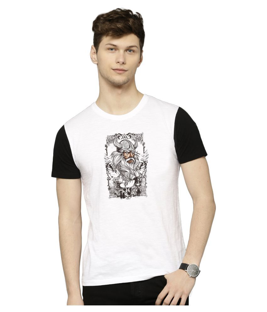 Flingr White Polyester T-Shirt
