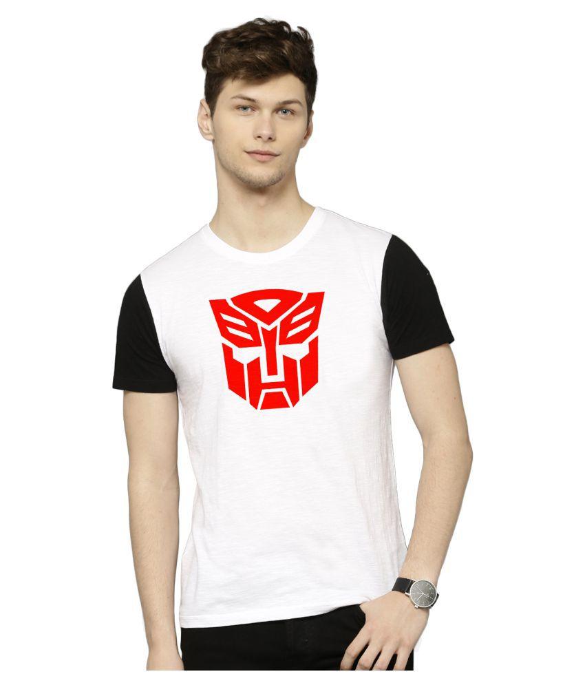 Flingr White Polyester T-Shirt