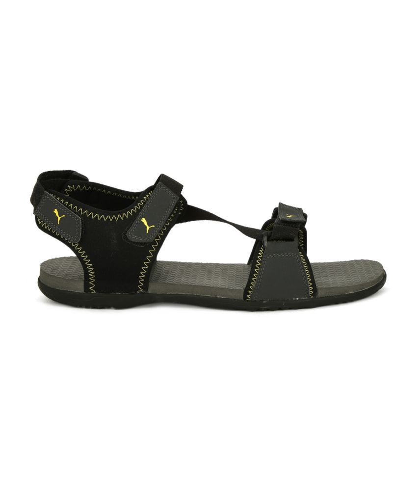 b8eff300d8a1ab Puma Royal IDP Black Floater Sandals - Buy Puma Royal IDP Black ...