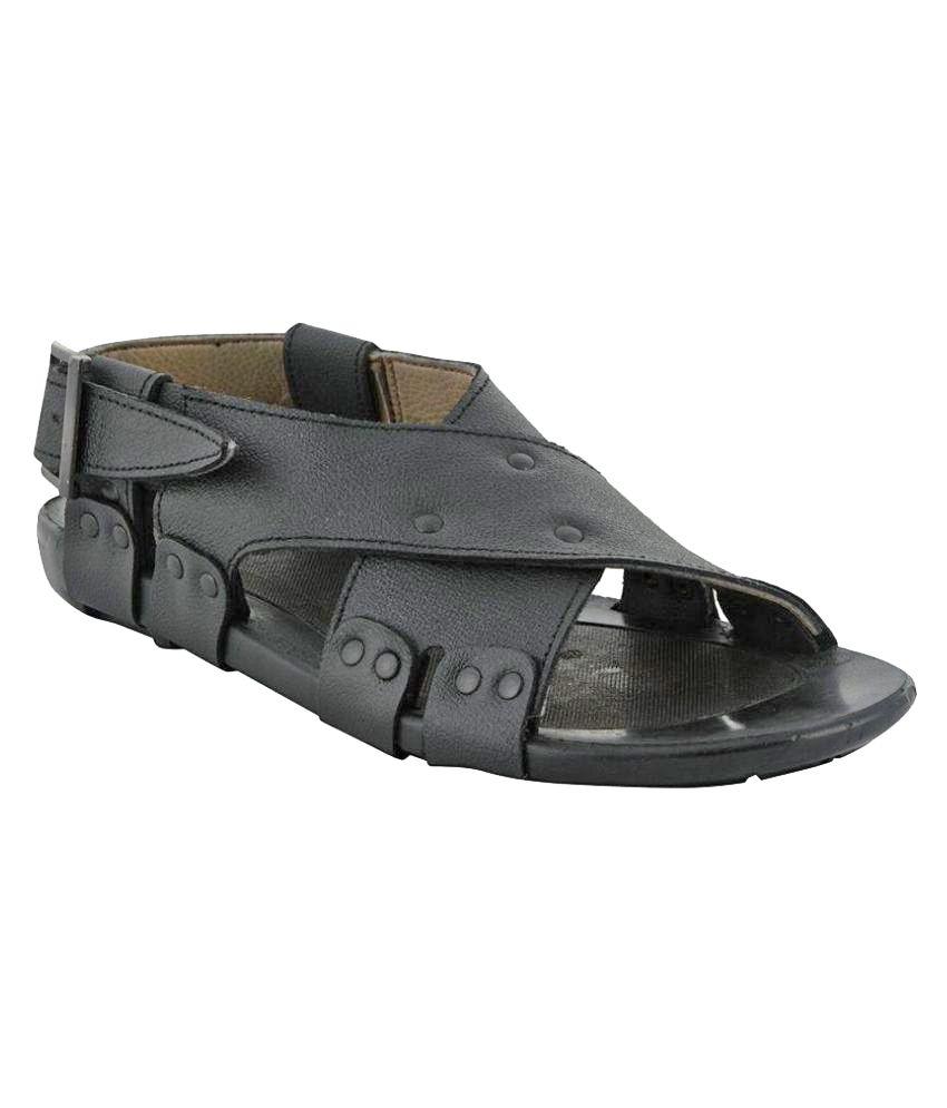 cc6a52f6aed3b8 Lee Graim 1208 Black Sandals Price in India- Buy Lee Graim 1208 Black  Sandals Online at Snapdeal