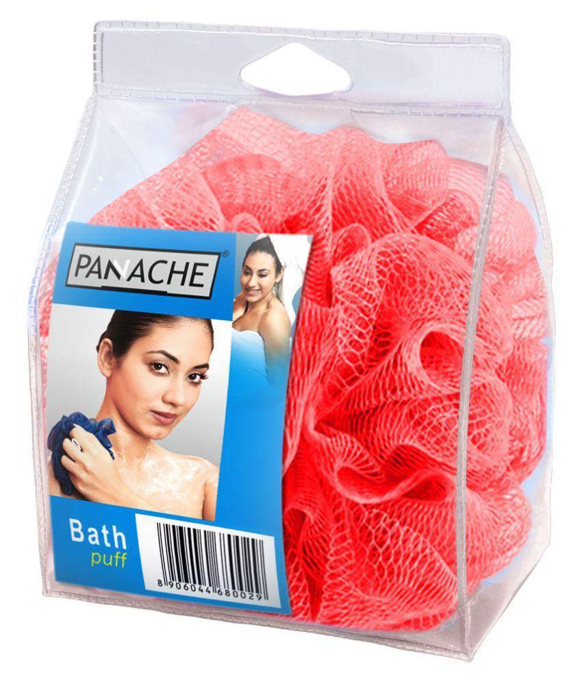 Panache Bath Loofah,Glowing Red Loofah Red