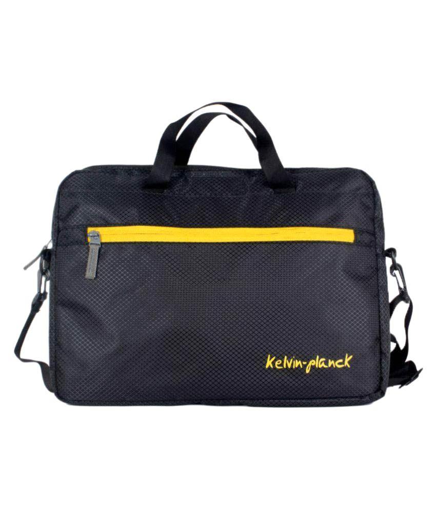 Kelvin Planck Black Laptop Sleeves