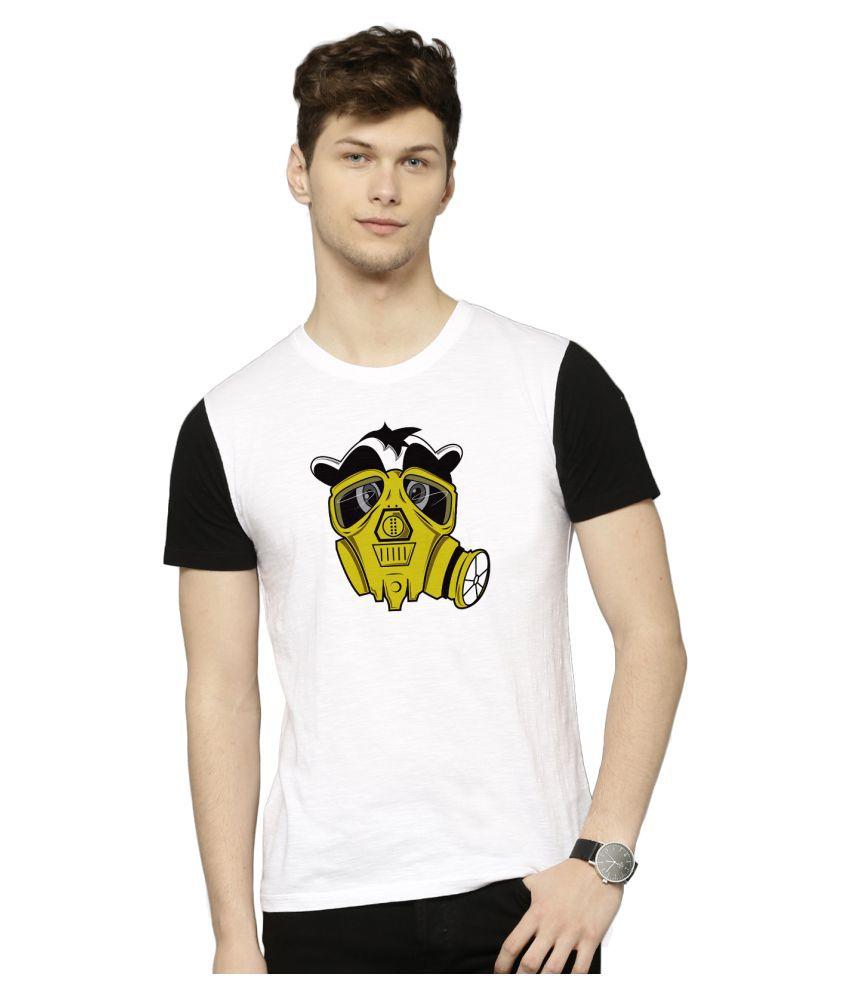 Flingr White Polyester T-Shirt Single Pack
