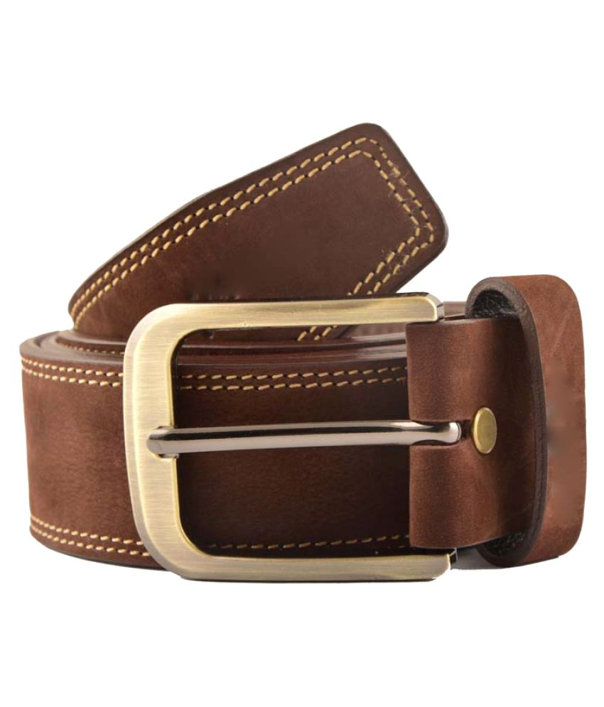 Matrix Brown Leather Casual Belts
