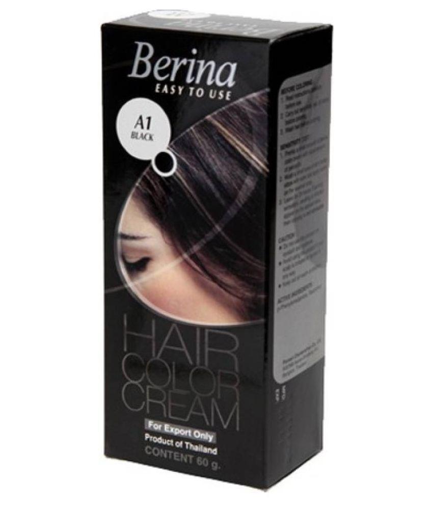Berina A1 Permanent Hair Color Black 60 gm