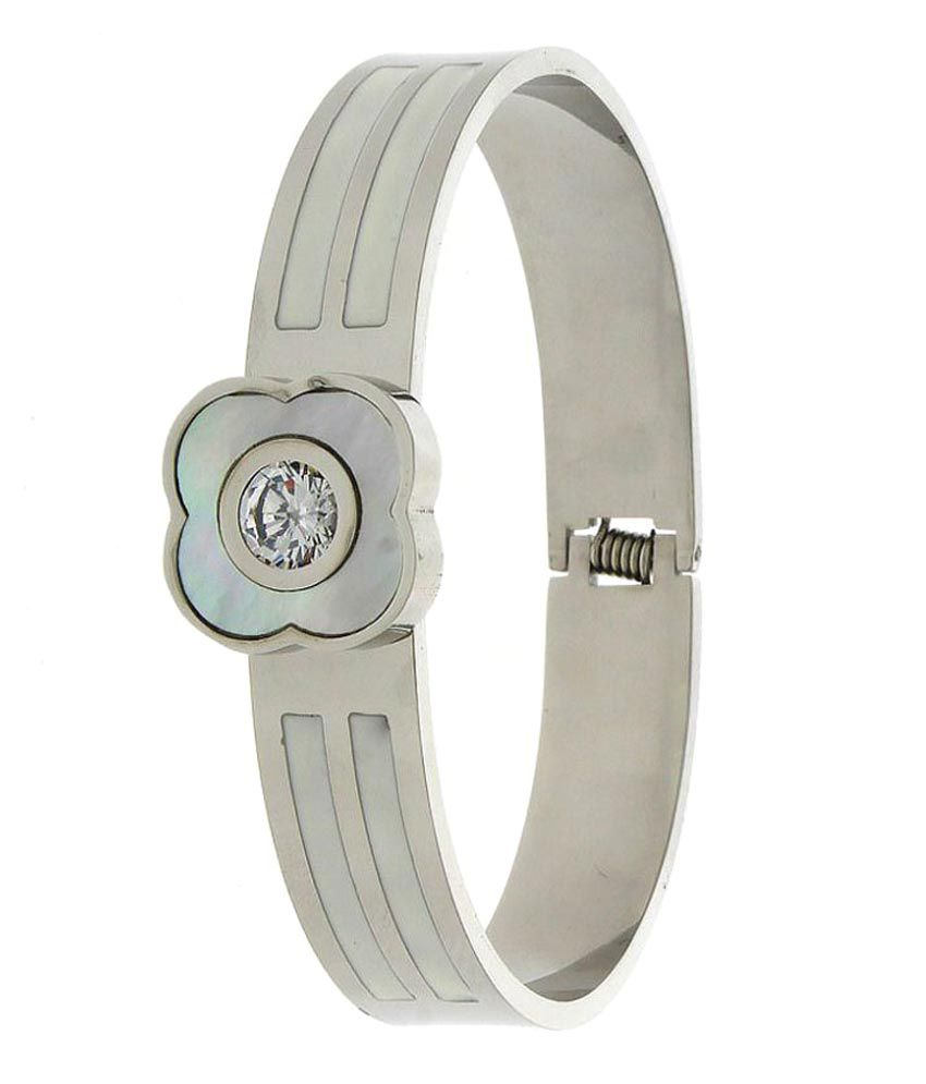 Anuradha Art Silver Colour Classy Styled With Changeable Stone Designer Adjustable Bracelets for Women