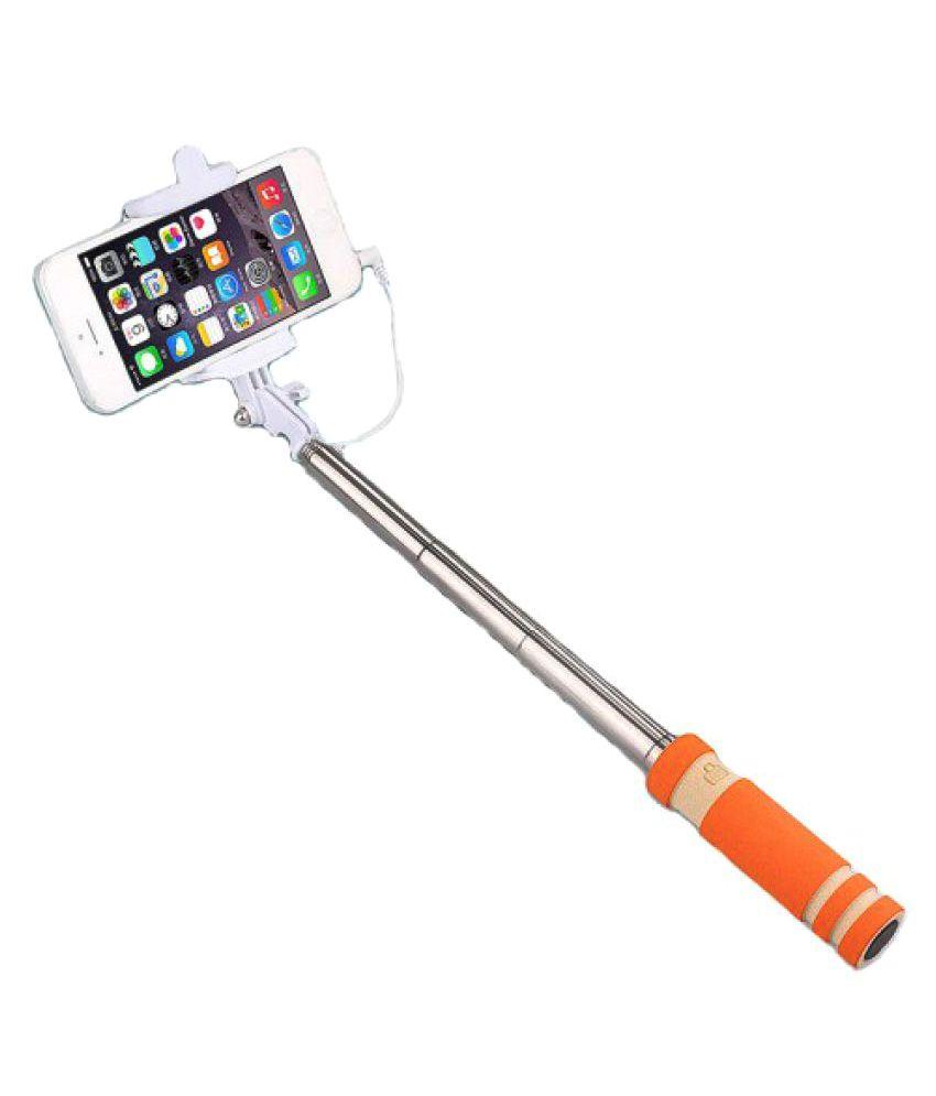 m stark aux wire selfie stick orange selfie sticks accessories online at low prices. Black Bedroom Furniture Sets. Home Design Ideas