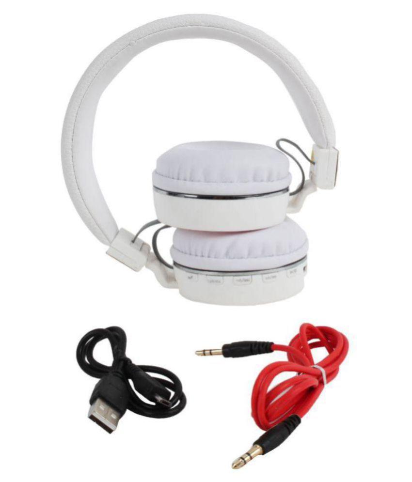 Exixa SH 10 Wireless Bluetooth Headphone White