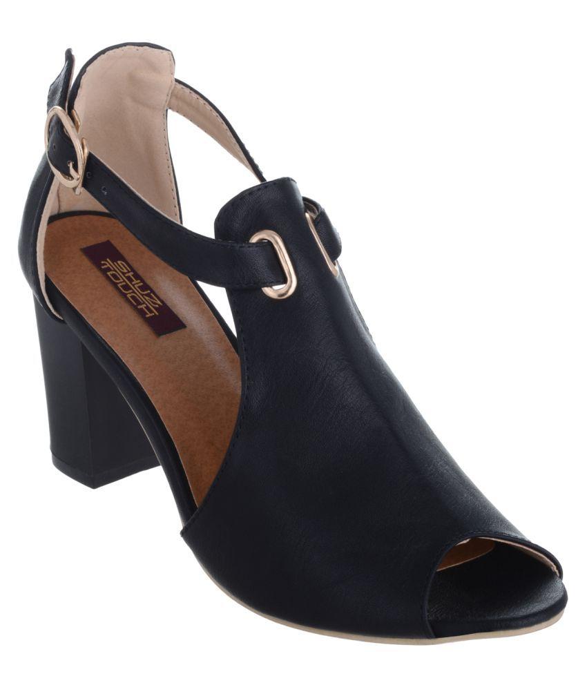 Shuz Touch Black Block Heels