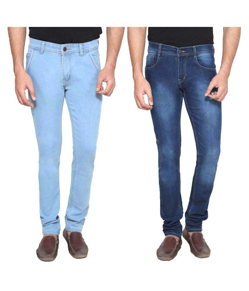Ansh Fashion Wear Blue Regular Fit Jeans