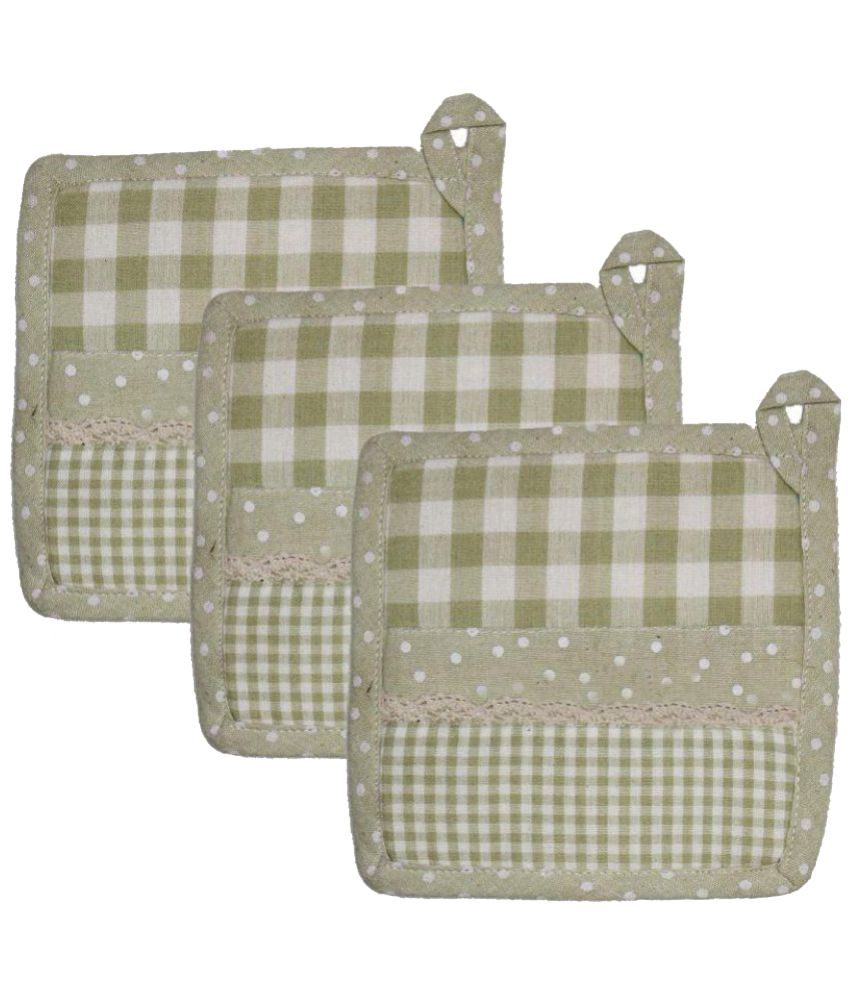 Airwill Cotton Designer Pot Holders - Pack of 3
