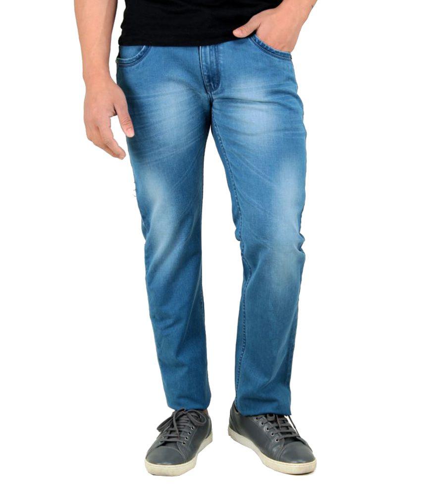 Rock Island Light Blue Regular Fit Jeans
