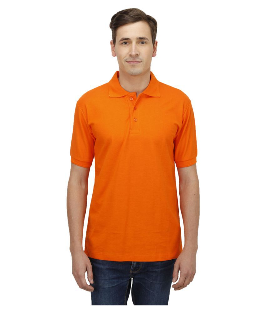 Haltung Orange Cotton Polo T-shirt