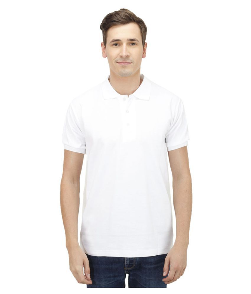 Haltung White Cotton Polo T-shirt