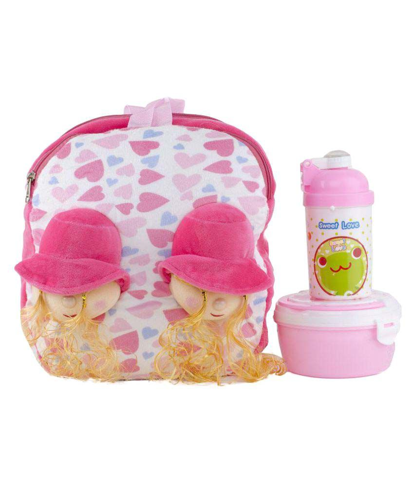 8b7c6a23c12 Uxpress Pink School Bag With Tiffin Box And Water Bottle For Girls And Kids  - Buy Uxpress Pink School Bag With Tiffin Box And Water Bottle For Girls  And ...