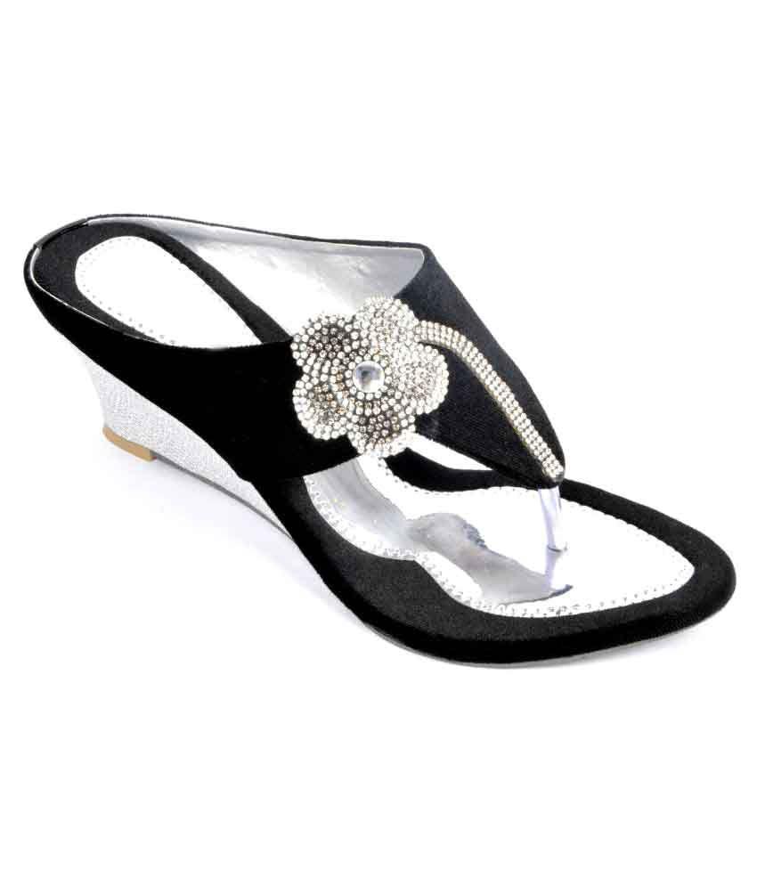 Fashbeat Black Wedges Heels