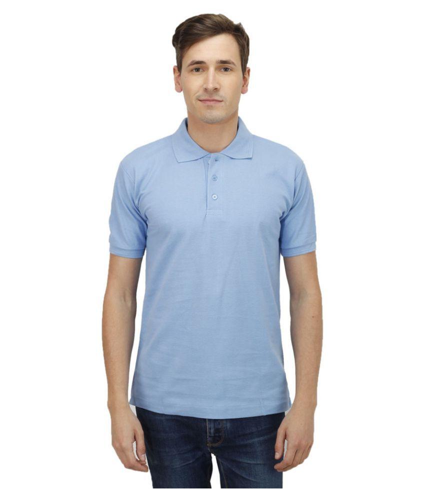 Haltung Blue Cotton Polo T-shirt