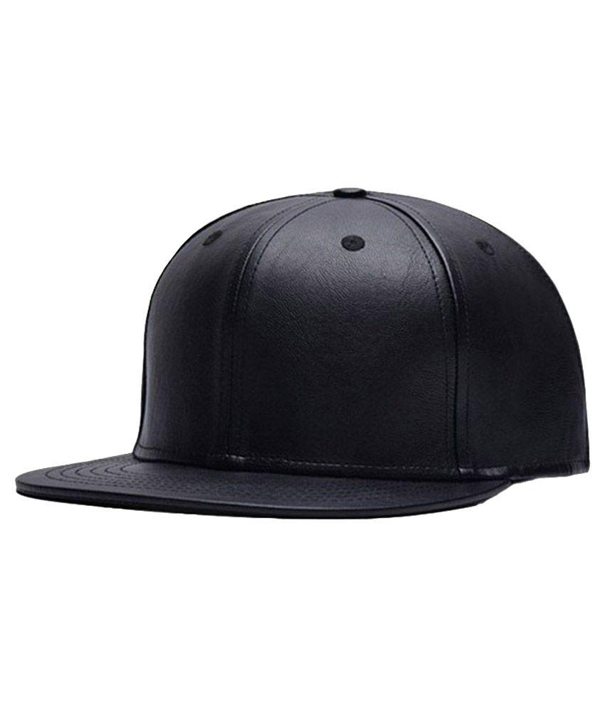 Zeedan Black Plain Silk Caps