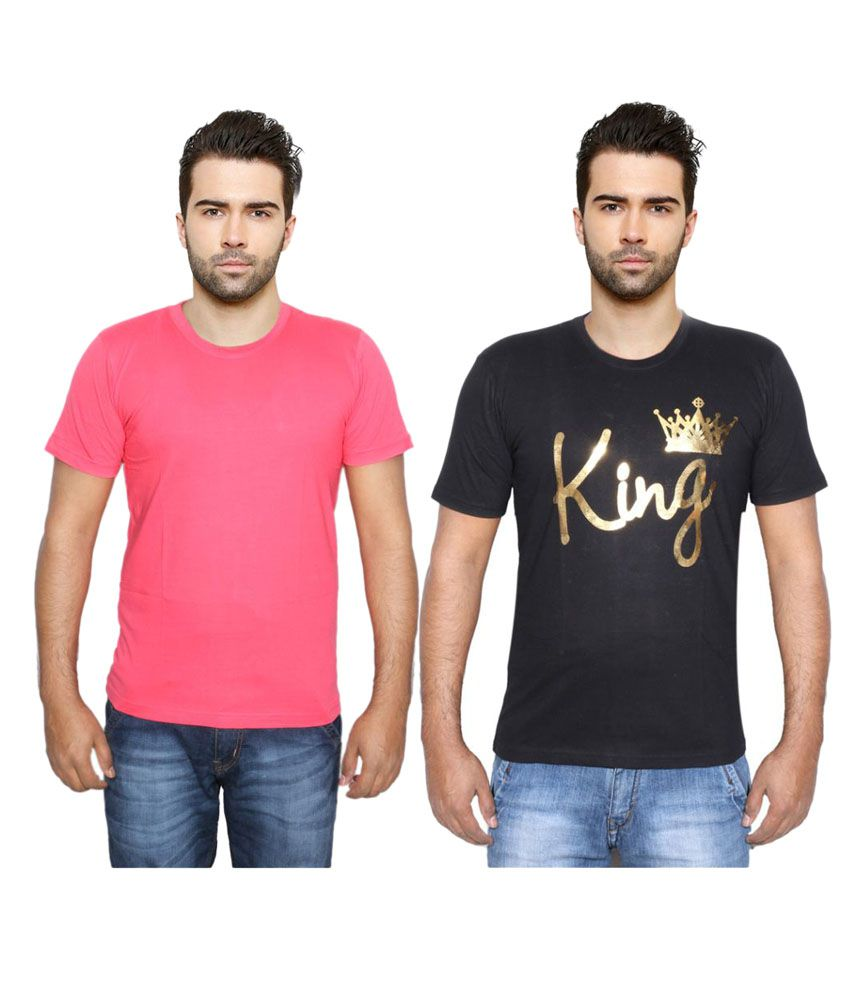 Indiweaves Multi Round T-Shirt Pack of 2