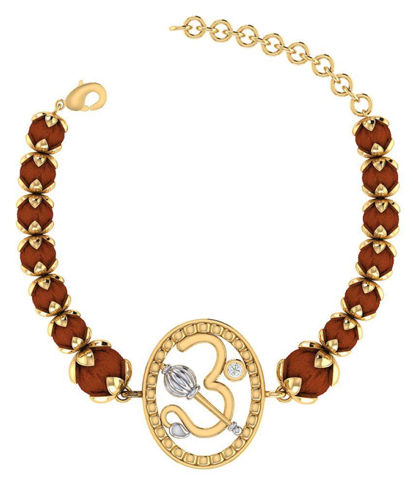 Dare Festive And Spiritual Rakhi Bracelet With Rudraksh Beads