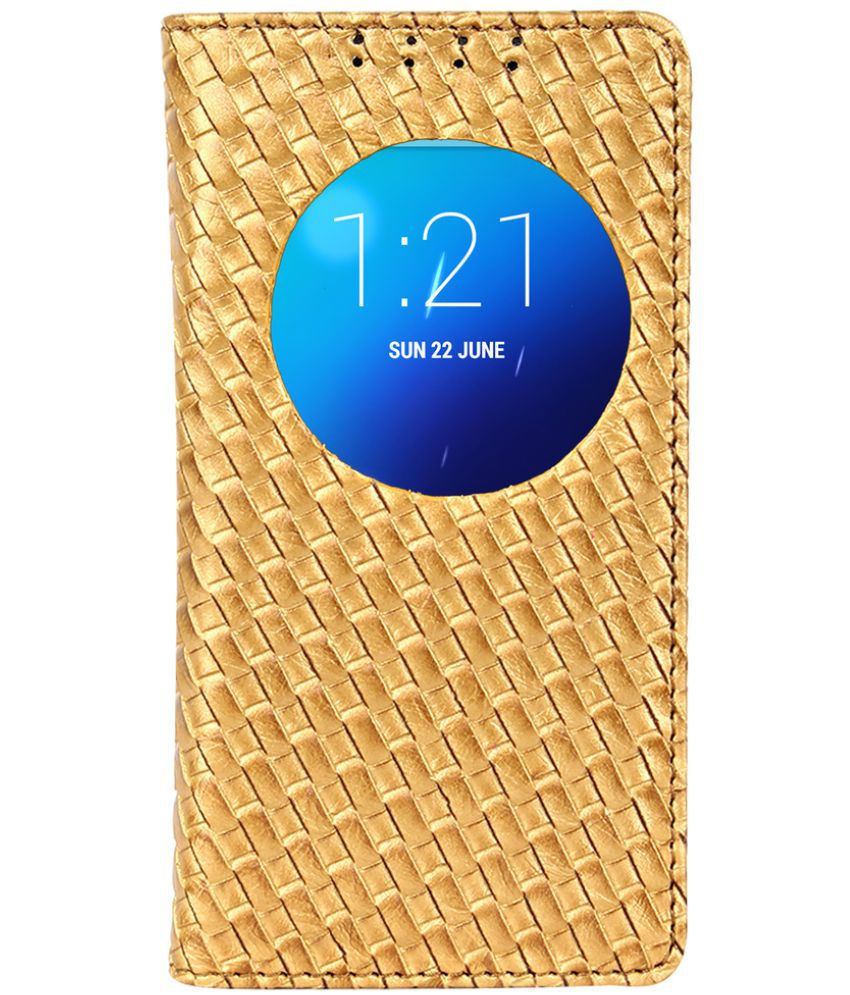 Lenovo S850 Flip Cover by Dsas - Golden