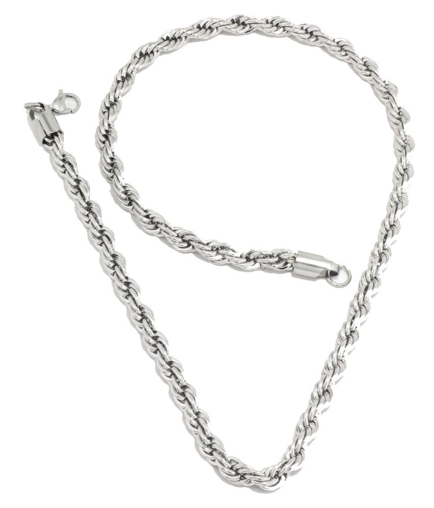 5c4342a74cbc0 Saizen Silver Chain For Men  Buy Online at Low Price in India - Snapdeal