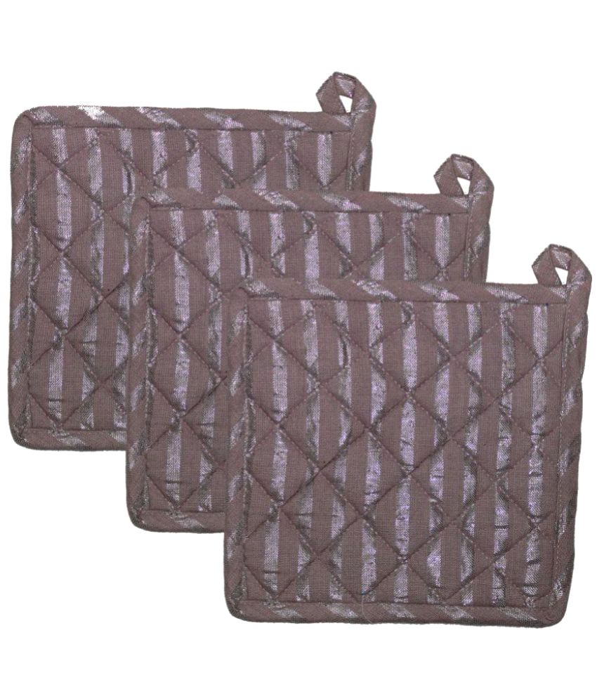 Airwill Cotton Designer Pot Holders -Pack of 3