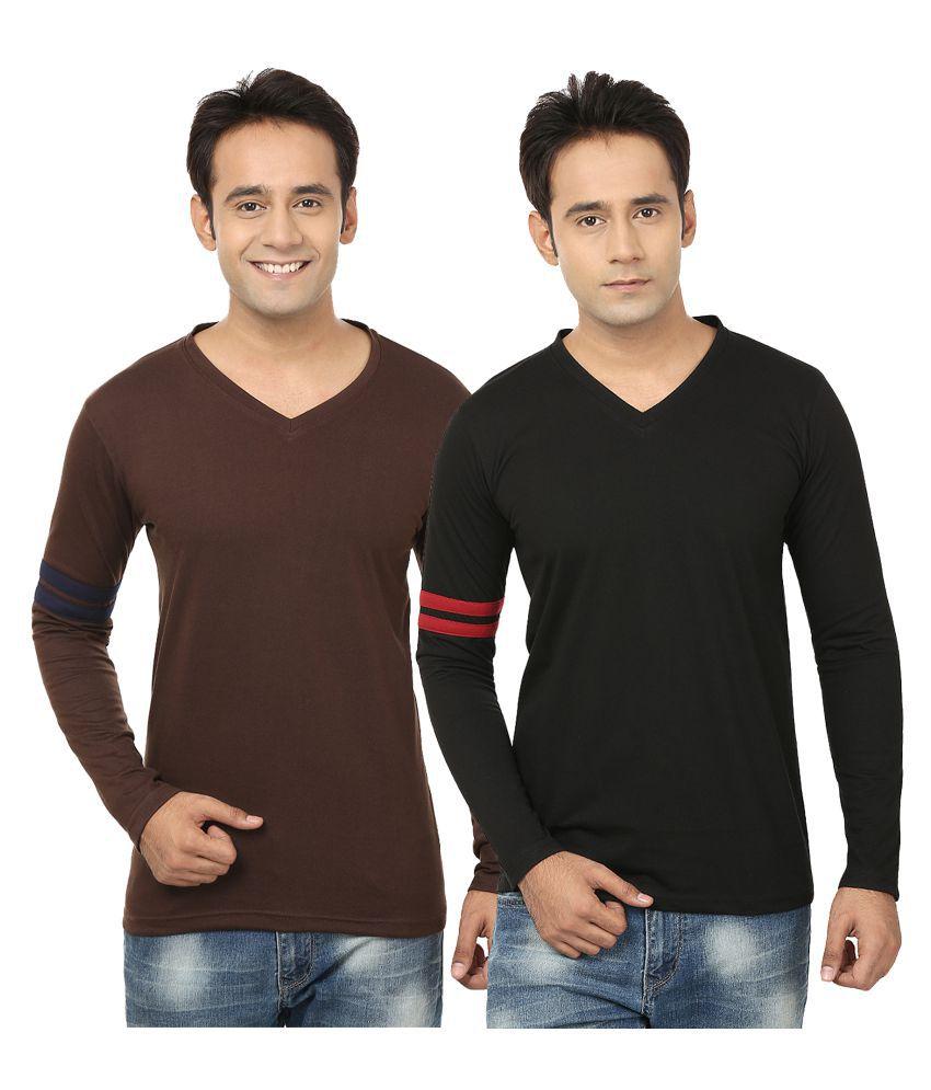 Jangoboy Multi V-Neck T-Shirt Pack of 2